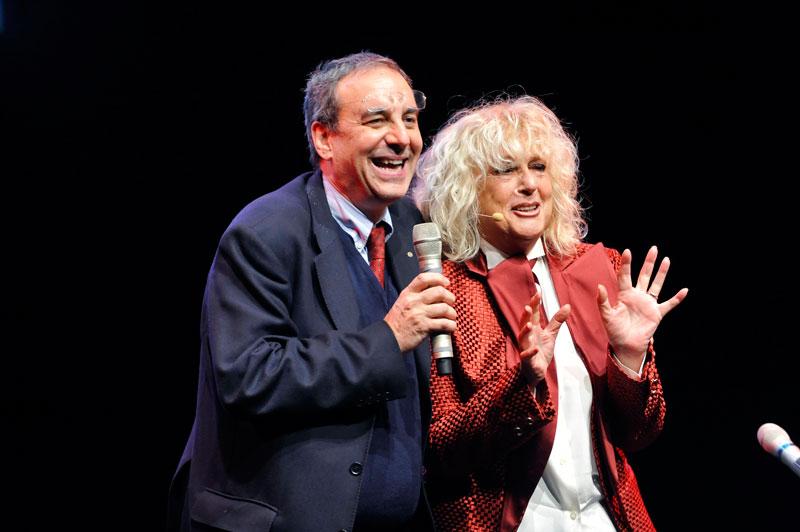 Francesco Fedele e Loretta Goggi