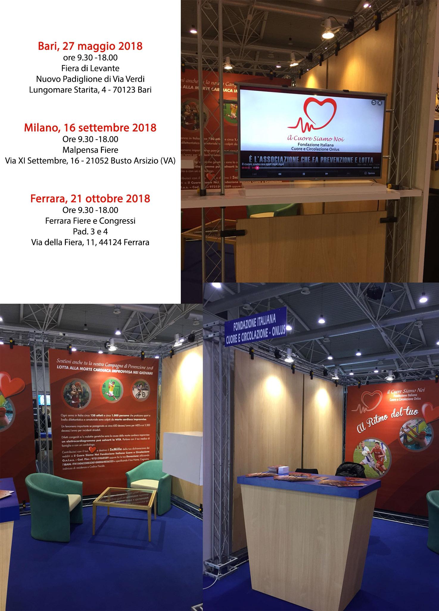 Prossime fiere – Bari, 27 maggio 2018 – Milano, 16 settembre 2018 – Ferrara, 21 ottobre 2018